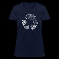 Women's T-Shirts ~ Women's T-Shirt ~ Recycling Tee (white)