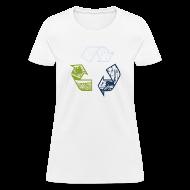 Women's T-Shirts ~ Women's T-Shirt ~ Earth Tone Recycling Tee