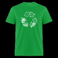 T-Shirts ~ Men's T-Shirt ~ Recycling Tee (white)
