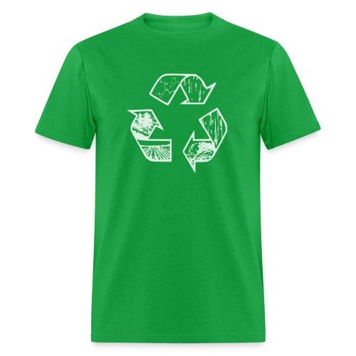 Recycling Tee (white) - Men's T-Shirt