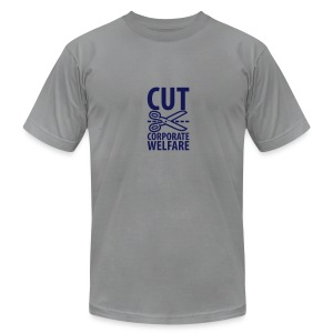 * CUT CORPORATE WELFARE *  - Men's Fine Jersey T-Shirt
