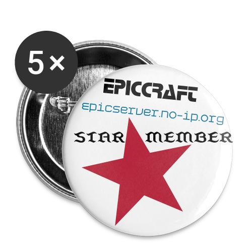 EpicCraft Large Button - 5 PACK - Buttons large 2.2'' (5-pack)