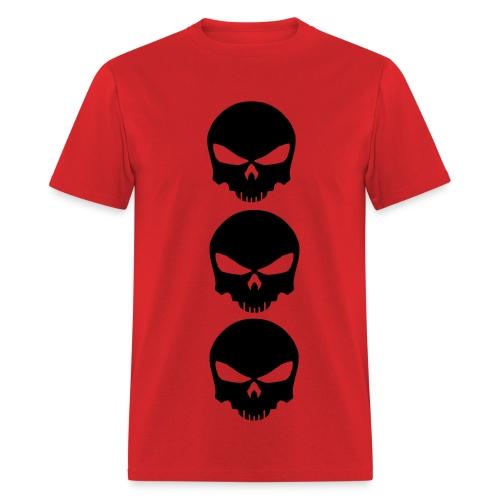 Three Skulls- Mens Tee - Men's T-Shirt
