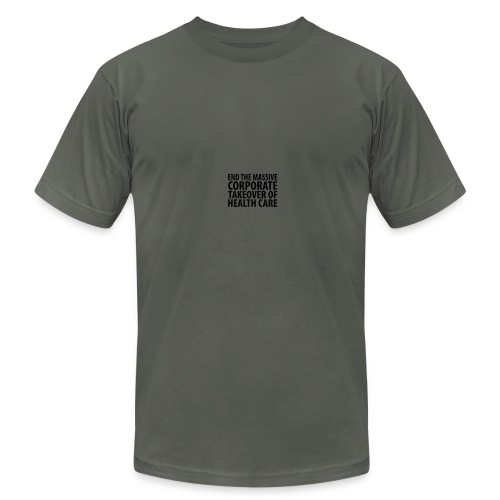 * End Corporate Control of Healthcare * - Men's Fine Jersey T-Shirt