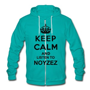 Keep Calm And Listen To Noyzez HOODIE - Unisex Fleece Zip Hoodie by American Apparel