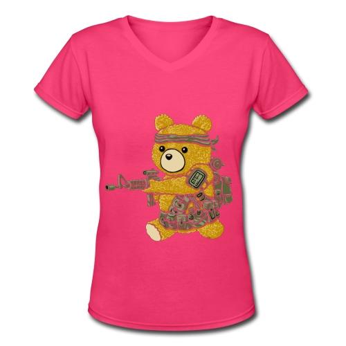 CoD Bear - Women's V-Neck T-Shirt