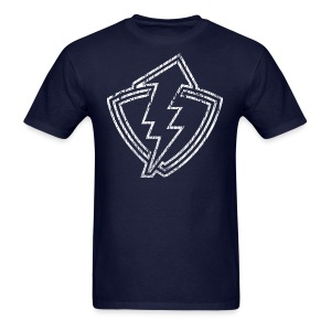 Thunder Shield - Outline - Weathered - Navy - Mens - Men's T-Shirt