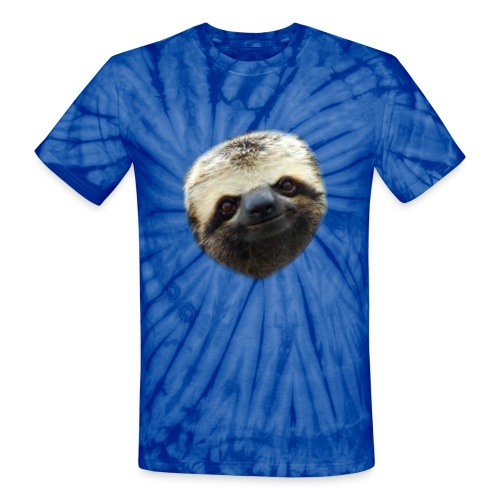 Unisex Tie Dye T-shirt Smiley Sloth - Unisex Tie Dye T-Shirt