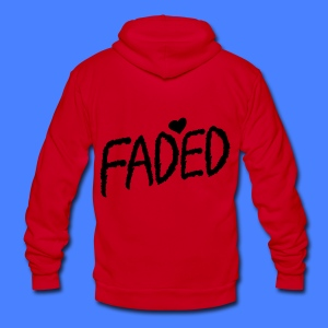 Faded XO Zip Hoodies/Jackets - Unisex Fleece Zip Hoodie by American Apparel