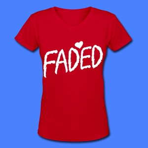Faded XO Women's T-Shirts - Women's V-Neck T-Shirt