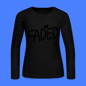 Faded XO Long Sleeve Shirts - Women's Long Sleeve Jersey T-Shirt