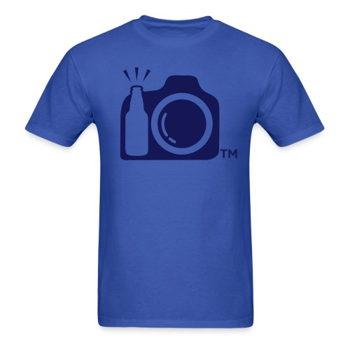 Blue T-Shirt Blue logo - Men's T-Shirt