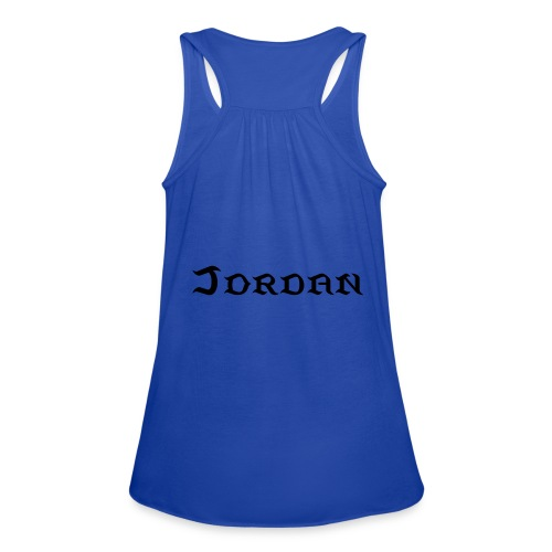 FIVE Personalized Tank Top [JORDAN] - Women's Flowy Tank Top by Bella