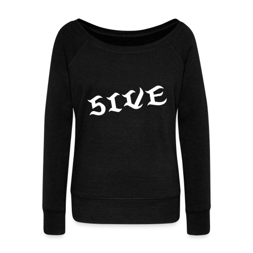 FIVE Dance Shirt [BLACK] - Women's Wideneck Sweatshirt
