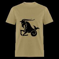 T-Shirts ~ Men's T-Shirt ~ Capricorn Zodiac Sign T-shirt - Capricorn Symbol Goat