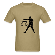 T-Shirts ~ Men's T-Shirt ~ Libra Zodiac Sign T-shirt - Libra Symbol Scales
