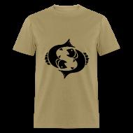 T-Shirts ~ Men's T-Shirt ~ Pisces Zodiac Sign T-shirt - Pisces Symbol Two Fish