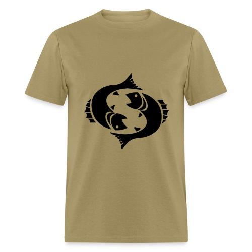 Pisces Zodiac Sign T-shirt - Pisces Symbol Two Fish - Men's T-Shirt