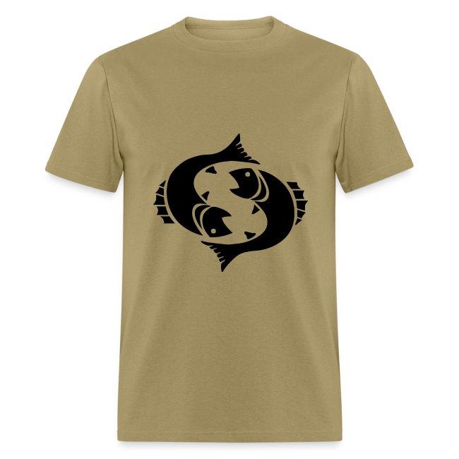 Pisces Zodiac Sign T-shirt - Pisces Symbol Two Fish