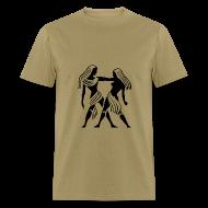 T-Shirts ~ Men's T-Shirt ~ Gemini Zodiac Sign T-shirt - Gemini Symbol Twins