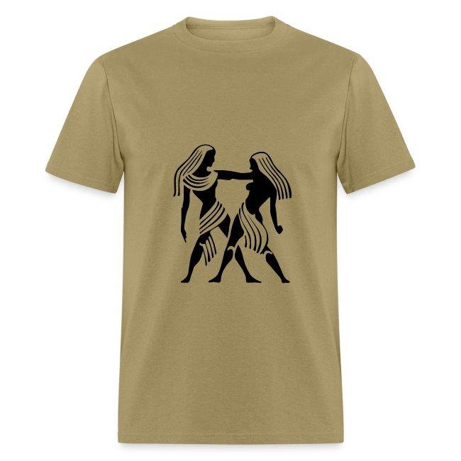 Gemini Zodiac Sign T-shirt - Gemini Symbol Twins