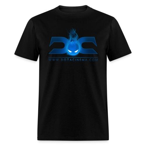 MENS TEE: DotaCinema logo 2 black text - Men's T-Shirt