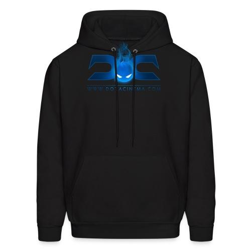 MENS Hoodie: DotaCinema logo 2 black text - Men's Hoodie