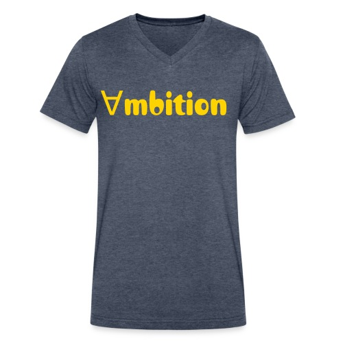 ambition v neck  - Men's V-Neck T-Shirt by Canvas