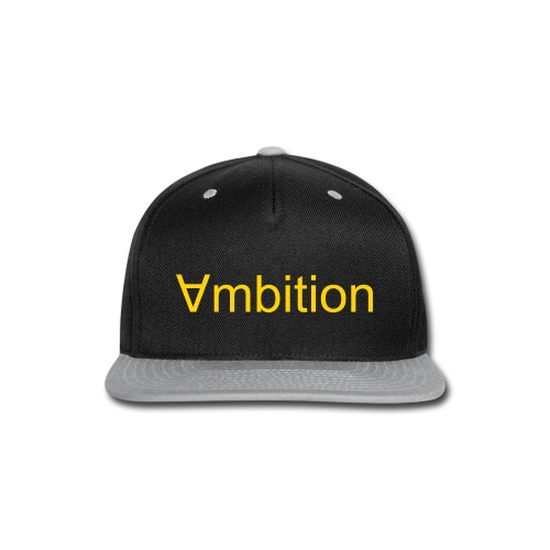 ambition snap back hat - Snap-back Baseball Cap