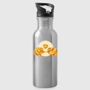 hedgehogs kissing Bottles & Mugs - Water Bottle