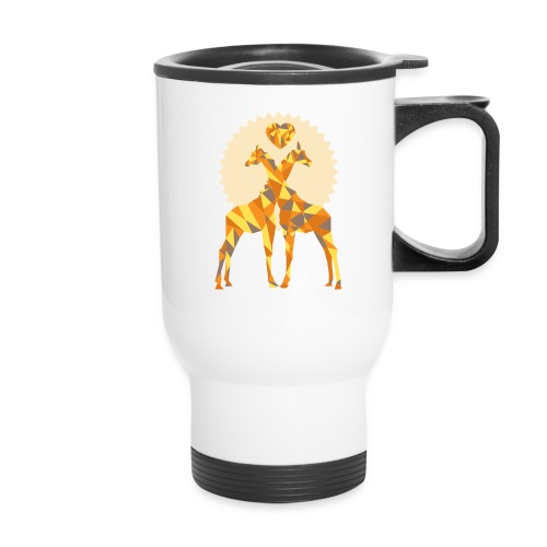 Giraffe Love on a To-Go Cup - Travel Mug