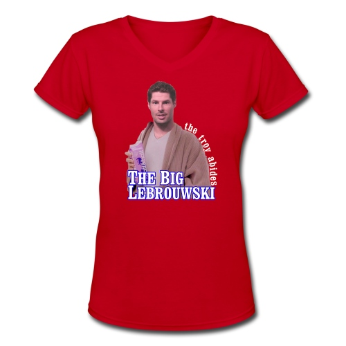 Big Lebrouwski Women's V-Neck - Women's V-Neck T-Shirt