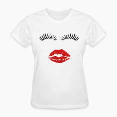 Eye lashes and kiss. Women's T-Shirts
