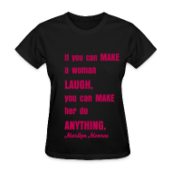 Women's T-Shirts ~ Women's T-Shirt ~ MAKE GIRL SMILE TEE