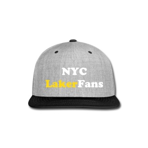 NYC Laker Fans Flat brim hat - Snap-back Baseball Cap