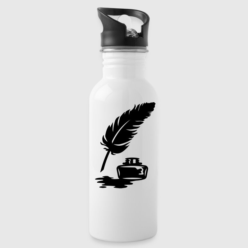 Quill Pen and Ink Pot Bottles & Mugs - Water Bottle