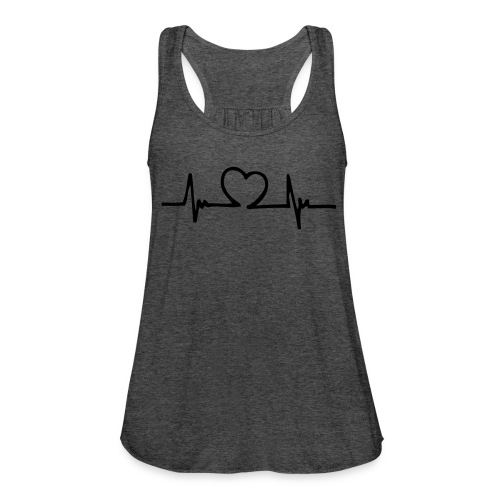 Heart heartbeat showing a pulse - Women's Flowy Tank Top by Bella