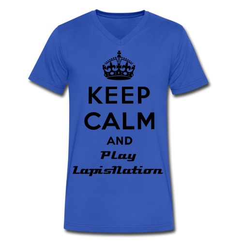 Keep Calm And Play LapisNation Premium Male - Men's V-Neck T-Shirt by Canvas