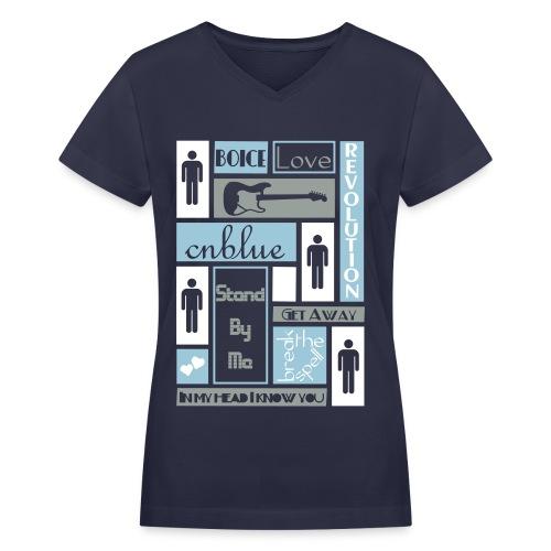 Composition CNblue 2 - Women's V-Neck T-Shirt