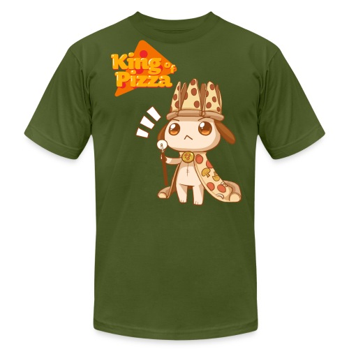 King of Pizza - Unisex [ANY COLOR] - Men's Fine Jersey T-Shirt