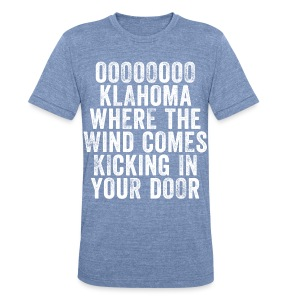 Oklahoma Wind - Men - Heather Blue - Unisex Tri-Blend T-Shirt by American Apparel