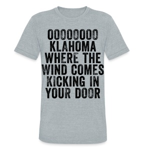 Oklahoma Wind - Men - Heather Grey - Unisex Tri-Blend T-Shirt by American Apparel