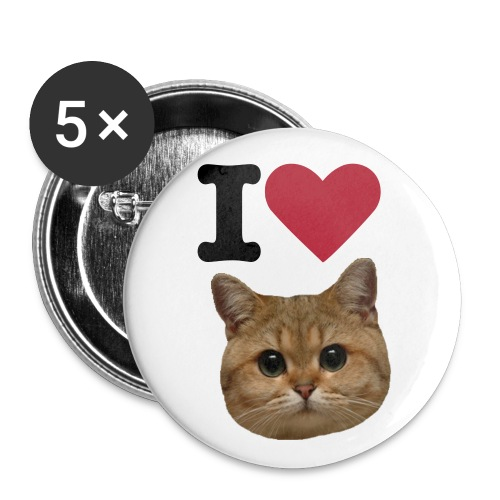 I Heart Pussy Pins 5-Pack - Buttons large 2.2'' (5-pack)