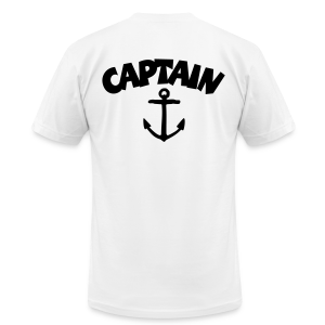Captain T-Shirt Anchor Men (White/Back) - Men's T-Shirt by American Apparel