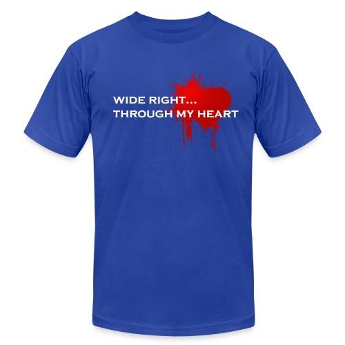 Wide Right (M) - Slim - Men's Fine Jersey T-Shirt