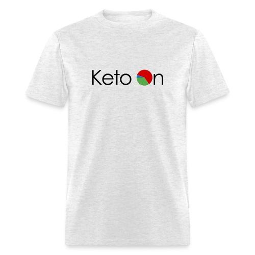 Keto On Men's T-Shirt - Dark Font - Standard Weight Cotton - Men's T-Shirt