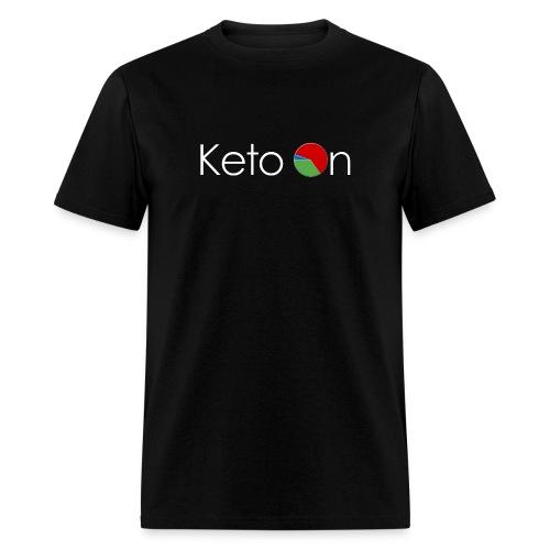 Keto On Men's T-Shirt - White Font - Standard Weight Cotton - Men's T-Shirt