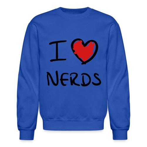 I Love Nerds Men's Crewneck Sweatshirt - Crewneck Sweatshirt