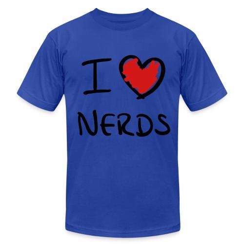 I Love Nerds Men's T-Shirt - Men's Fine Jersey T-Shirt