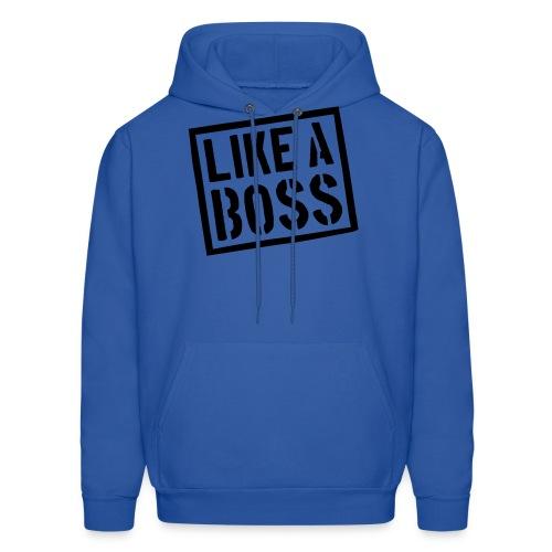 Like A Boss Men's Crewneck Sweatshirt - Men's Hoodie